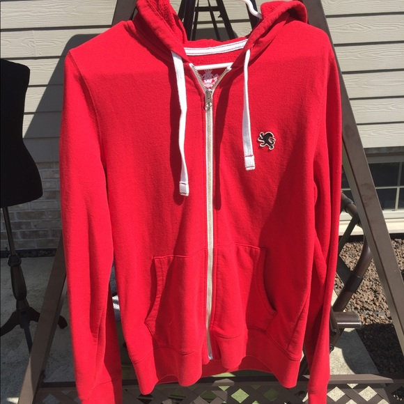 Express Other - Mens Express Red Zip Up